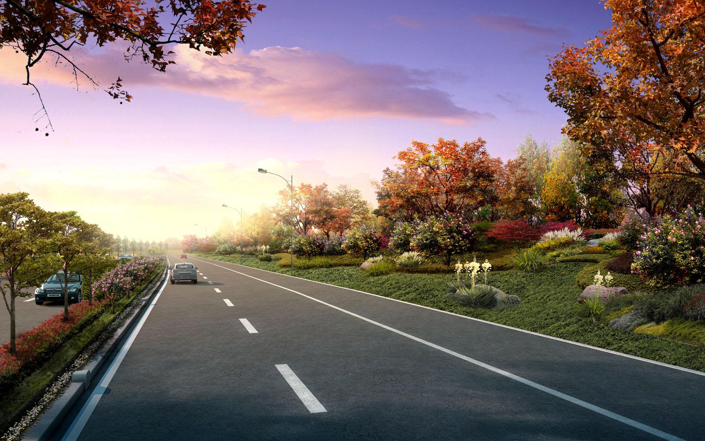 街道绿化设计手绘